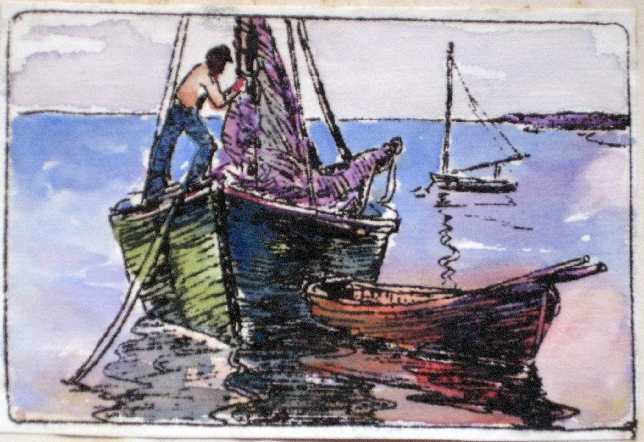 Paintings by California artist Helen May (Stafford) Smith (1871-1954)