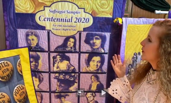 Mary Ruden's Suffragist Quilts