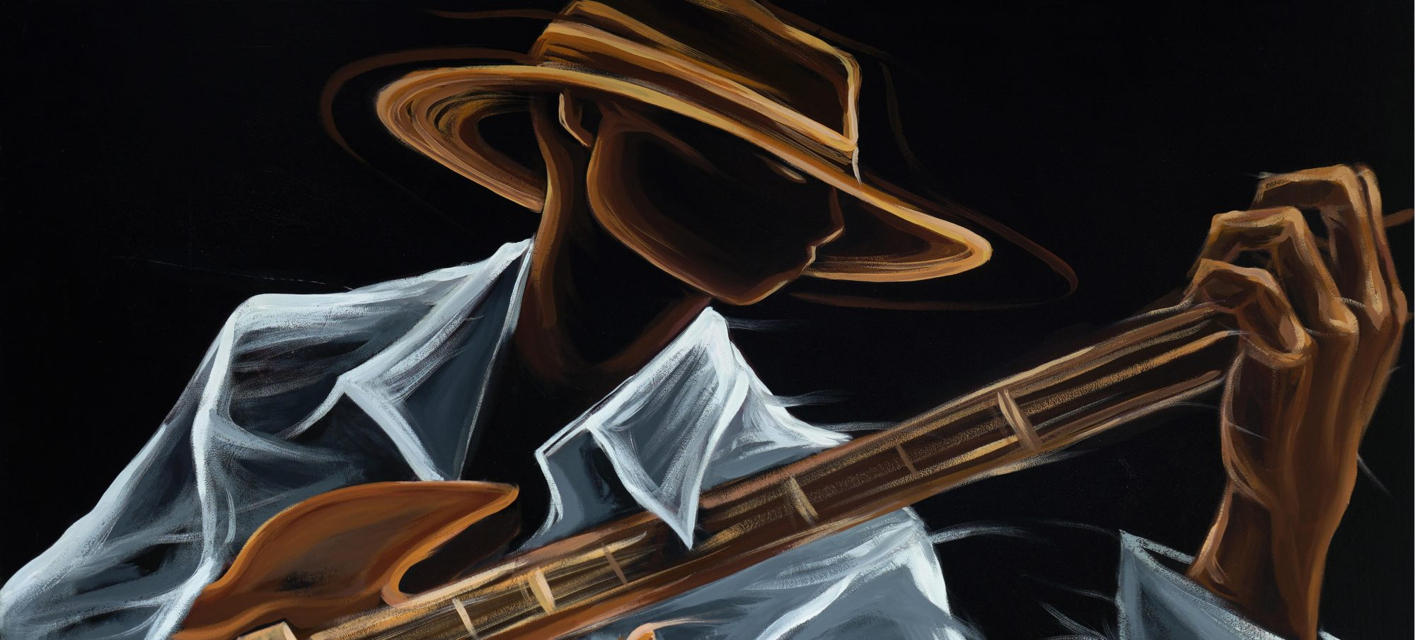The Silent Guitar: Paintings by Sharif Carter